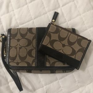 Coach Wristlet With Matching Coin Purse